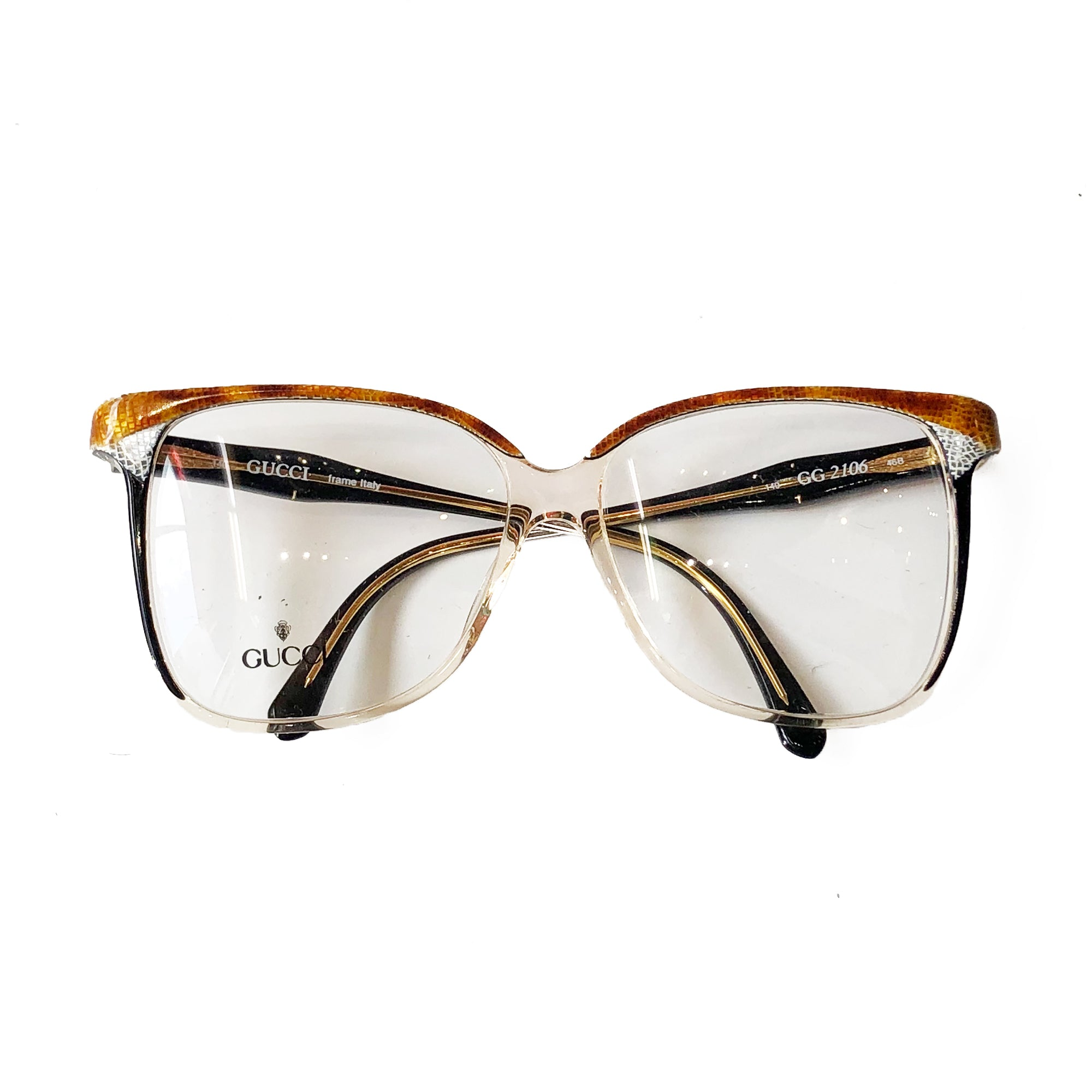 Gucci Clear Glasses (Brown)