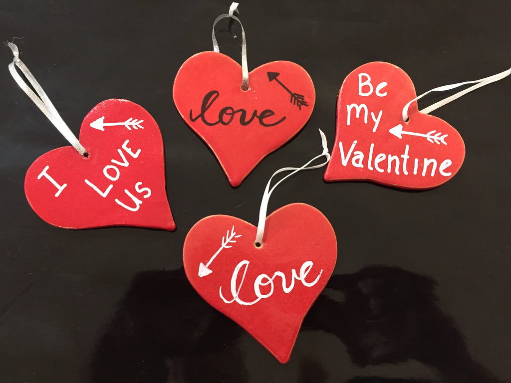 Valentine's Day - Personalizable Heart Ornaments
