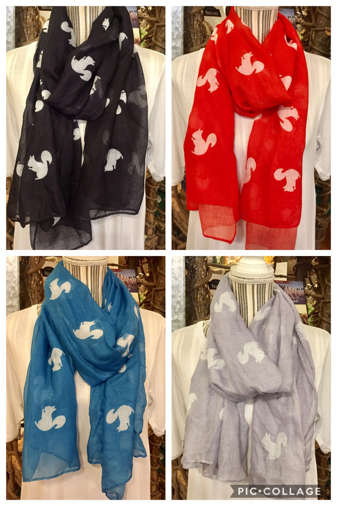 Come in today and ask me how to get a FREE White Squirrel Scarf!