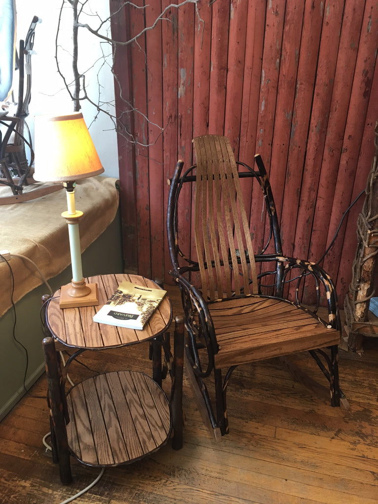Perfect for your Porch to watch a Sunrise or Sunset- Amish Rockers and End Tables