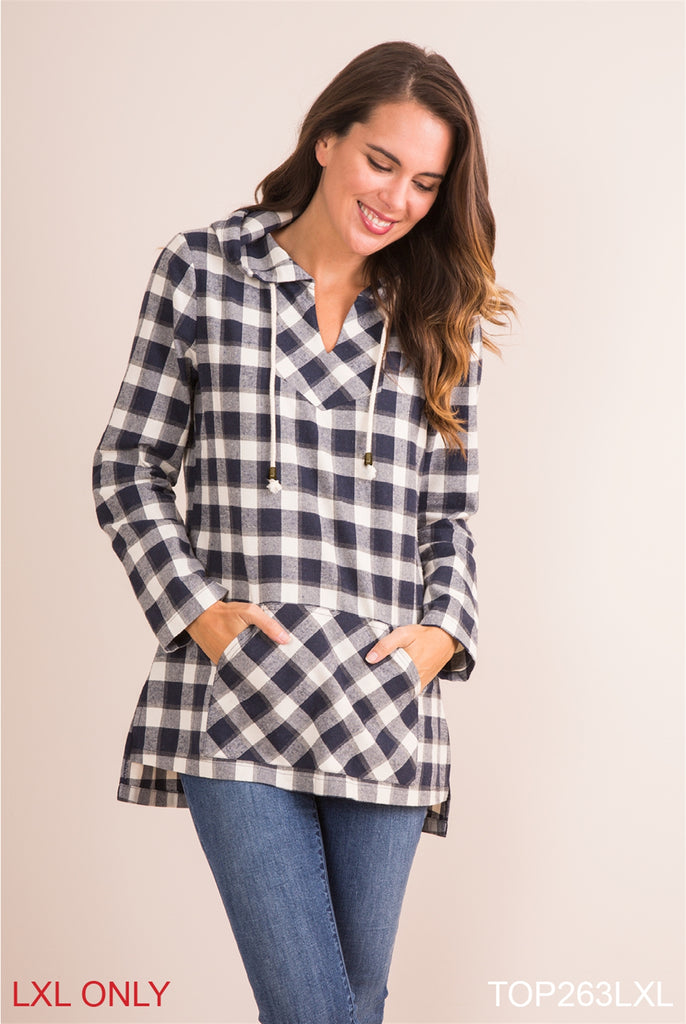 FLANNEL HOODIES IN BUFFALO PLAID