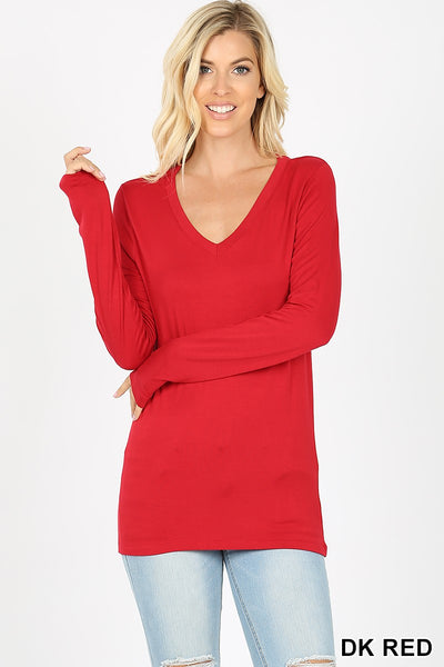 Clothing - Long Sleeve V-Neck Tee