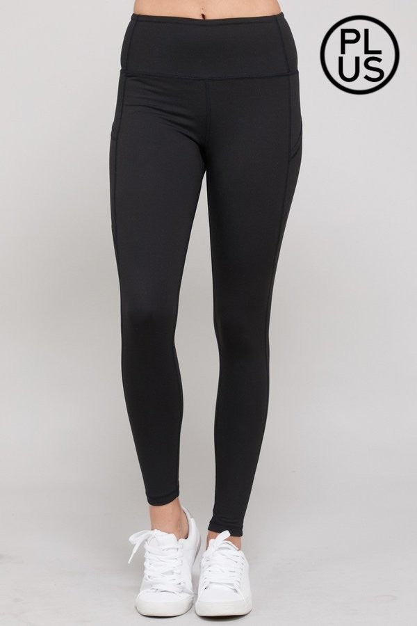 Clothing - Yoga Pants Plus Size for Women - Full Length, High Waist