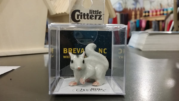 Ornament - Boxed Hand Painted Porcelain White Squirrel