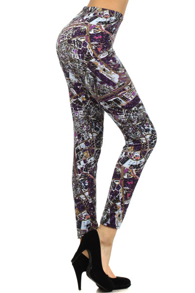 Clothing - Super Soft Leggings for Ladies - Mixed Print