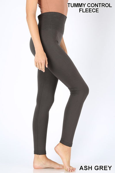 Clothing - Fleece-Lined Leggings with Tummy Control Waistband