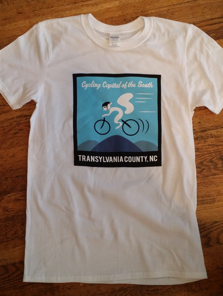 T-Shirt - Short Sleeved with Cycling White Squirrel - Cycling Capital of the South#