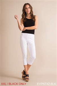 Clothing - Ponte Cropped Pant in Black or White