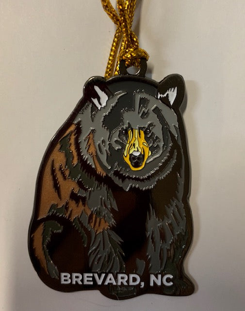 Ornaments - Black Bear Metal Ornament