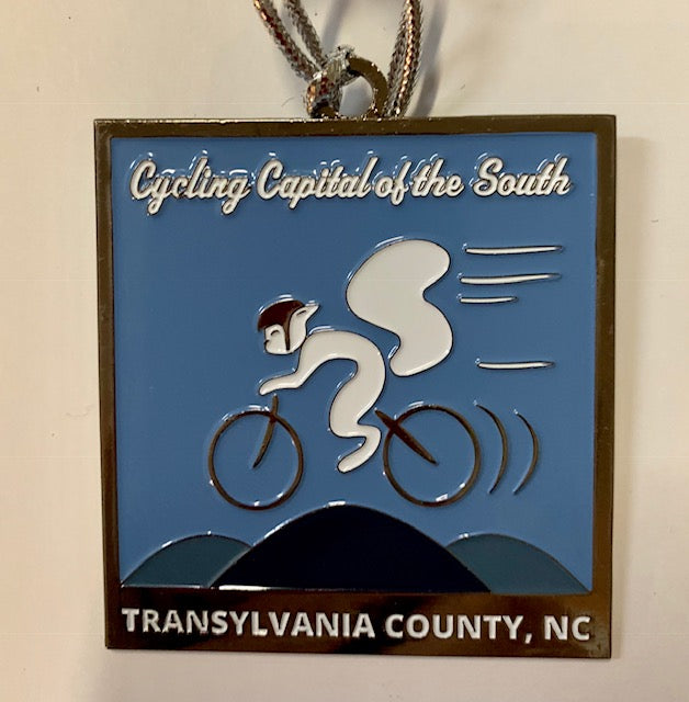 Ornaments - White Squirrel Metal Ornament - Cycling Capital of the South