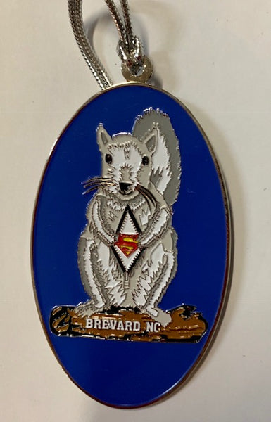Ornaments - White Squirrel Metal Ornaments -  Super Hero Series