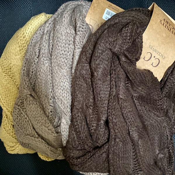 Clothing Accessory - Infinity Scarf that Matches CC Beanies & Gloves - Cable Knit