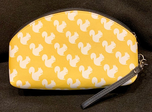 Cosmetic Bag - Custom-Made with our White Squirrel Design - Large Size