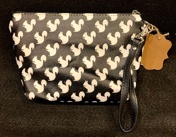 Cosmetic Bag - Custom-Made with our White Squirrel Design - Small Size