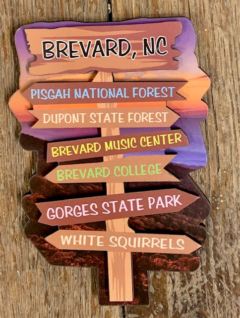 Magnet - Signpost Magnet showing Hot Spots in Brevard