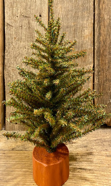"Home Decor - Pine Tree - Artificial - 15"" Tall on a Wooden Base"