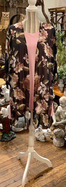 Clothing - Floral Kimono with Side Slits