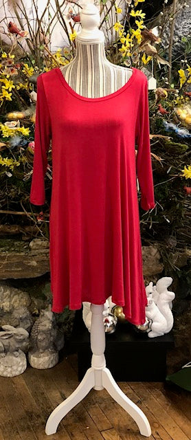 Clothing - Dress/Tunic in Raspberry