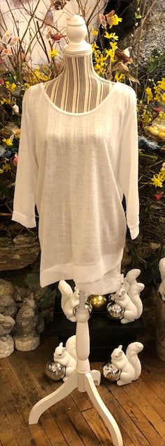Clothing - Tunic Top with Chiffon Trim