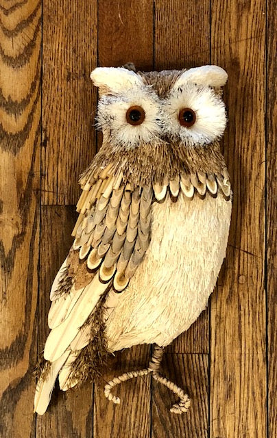 "Home Decor - Farmhouse Owl Wall Hanging 7"" wide x 14"" tall"