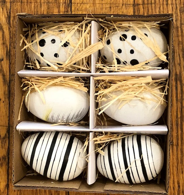 Home Decor - Decorative Eggs in a Box of Six