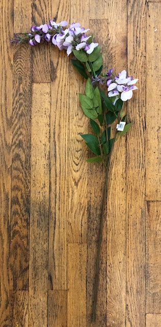 "Purple 43"" Wisteria Branch With Greenery"
