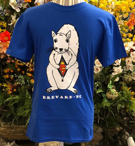 34756152 T-Shirt - Short Sleeves - Crew Neck with White Superman Squirrel
