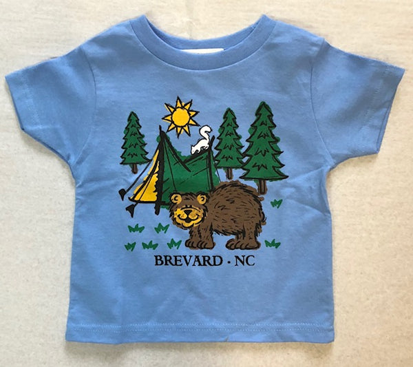 T-shirts - For Toddlers - Camping Bear and White Squirrel