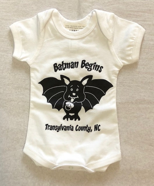 T-Shirts - Onesies - Baby Bat with Pacifier - Batman Begins - Sizes Newborn to 24 Months