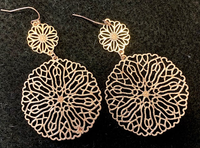 Jewelry - Intricate Blossom-Inspired Filigree Dangle Earrings