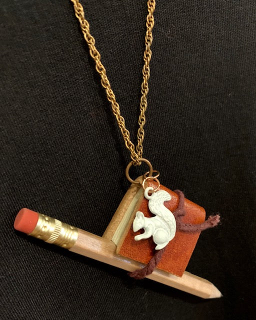 Jewelry - White Squirrel Journal Necklace