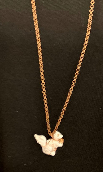 Jewelry - Wire-Wrapped White Squirrel Necklace