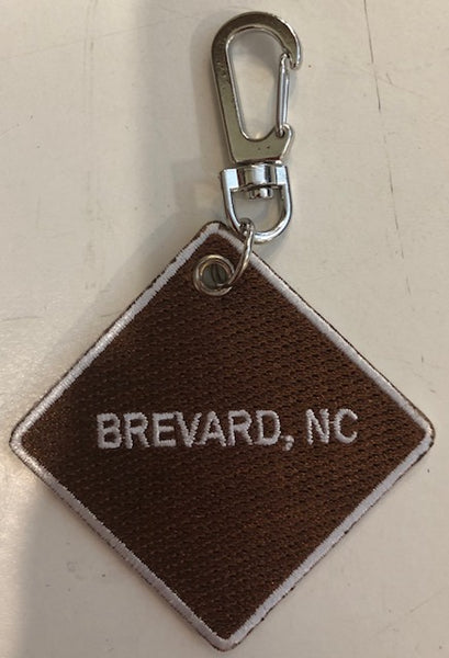 "Key Clip - ""I Love Camping"" on one side.....""Brevard, NC"" on other side"