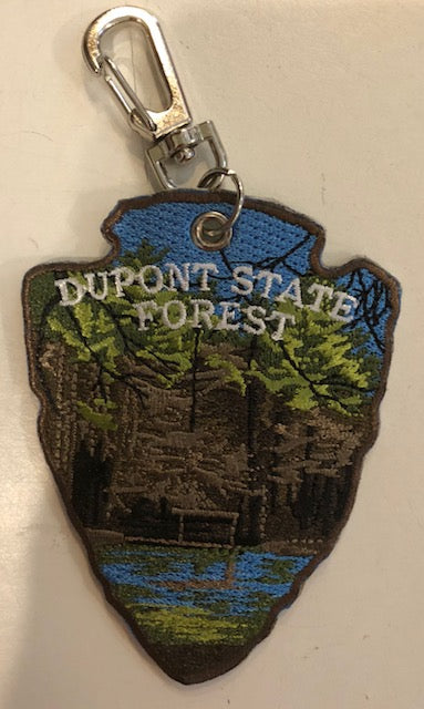 Key Clip - DuPont State Forest on One Side.....our White Squirrel on the Other Side