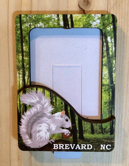 Frame with Magnetic Back - White Squirrel Image