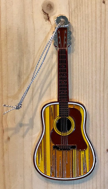 "Ornament - Metal Guitar with White Squirrel & ""Brevard, NC"" on the back"