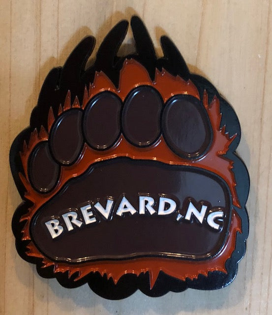 Magnet - Bear Paw with Brevard, NC Imprint