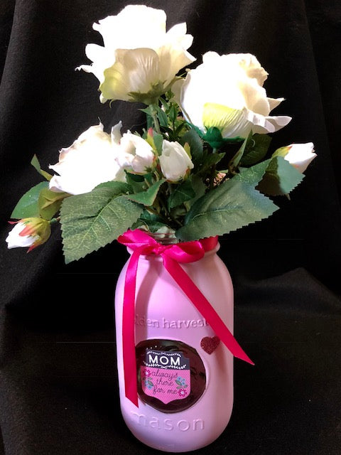 Bouquet - For Mother's Day - Roses!!  In a Hand-Crafted Jar