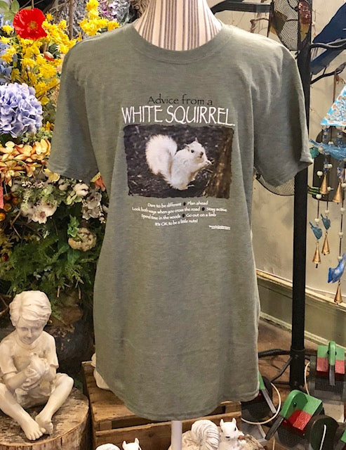 "T-Shirt - For Adults - ""Advice From a White Squirrel"""