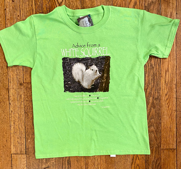 "T-Shirts - For Youth - ""Advice From a White Squirrel"" Short Sleeve Crew Neck"