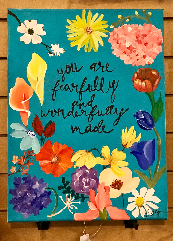 Home Decor - Original Painting by Lexy Combs - You are fearfully and wonderfully made #