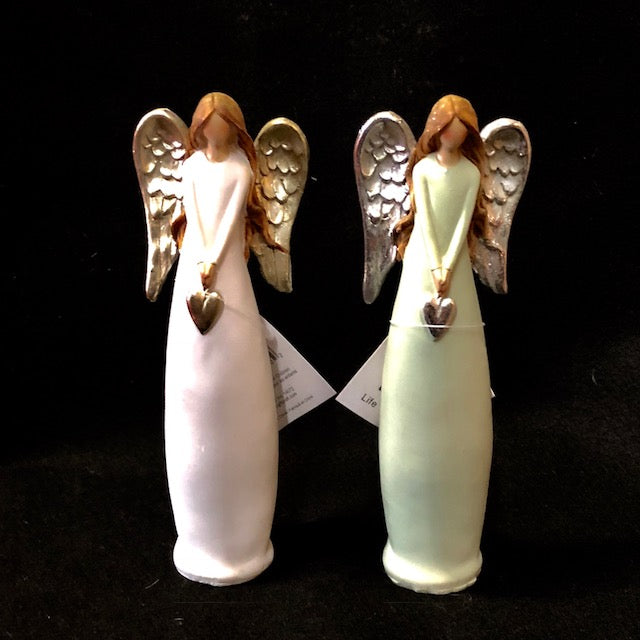 Home Decor - Angel Figurines in a matte bisque finish