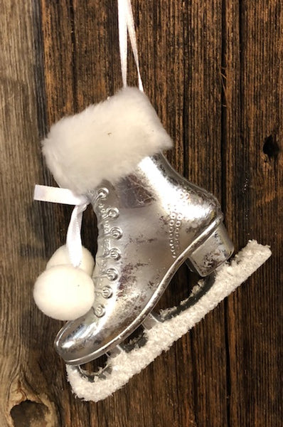 Ornament - Ice Skates made from Polyresin - 3 Colors