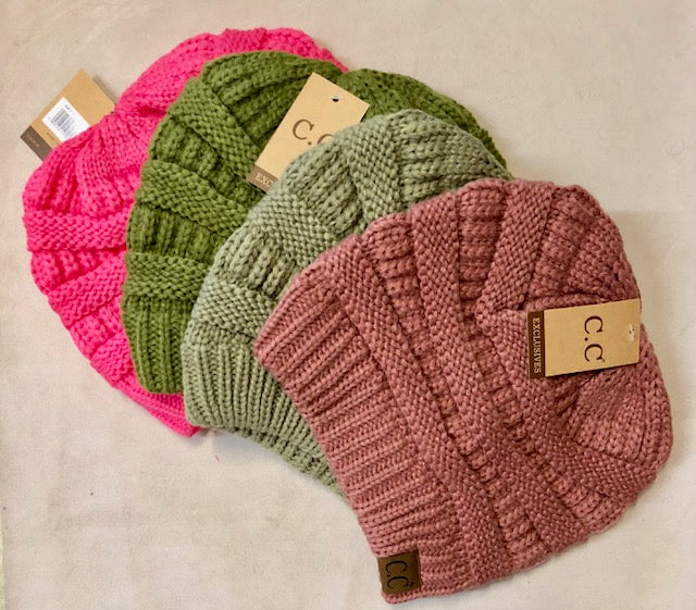 "Clothing Accessories - Cable Knit Beanie by ""CC"" - Goes with the Matching Texting Gloves"