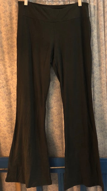 Clothing - Buttery Soft Black Brushed Flared-Bottom Leggings