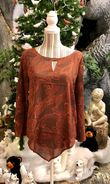 Clothing - Gypsy Fleur-Di-Lis Print Top