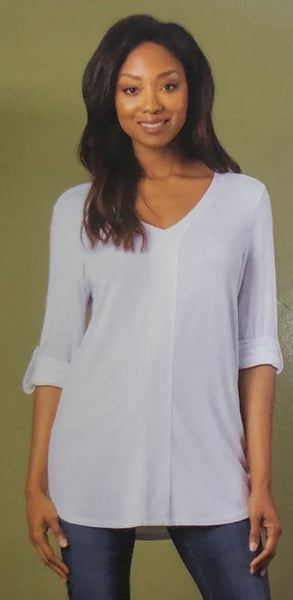 Clothing - Ultra-Soft Long-Sleeved V-Neck Tunic/Top