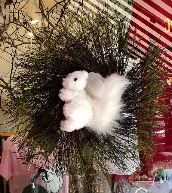 Wreath - White Squirrel Christmas Wreath