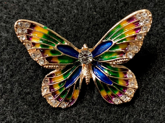 Jewelry - Small Blue Crystal Butterfly