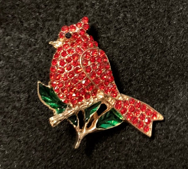 Jewelry - Mini Crystal Cardinal Brooch